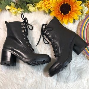 Marc Fisher Lanie Lace-Up Hiker Booties 8.5